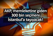 akp memleketine giden 300 bin seçmen istanbul a taşıyacak