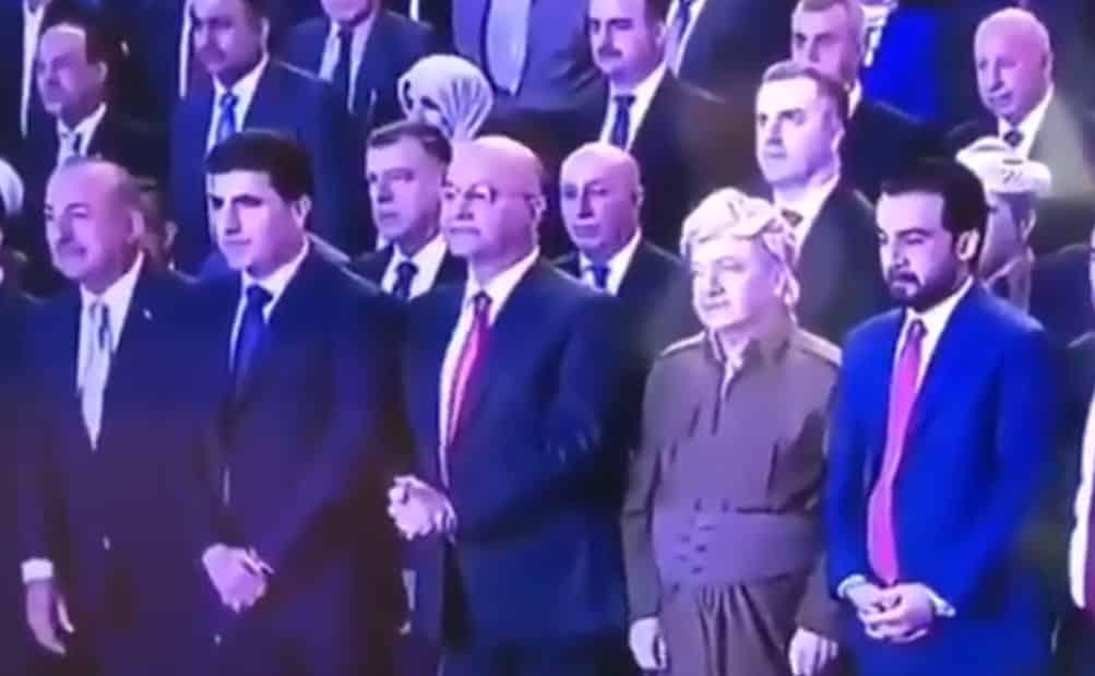 çavuşoğlu kürdistan şehitleri saygı duruşu barzani