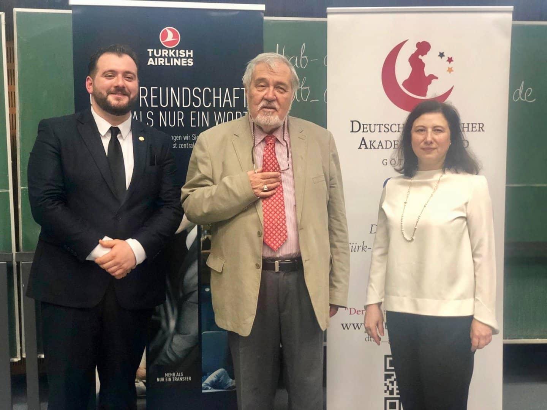 D-TAB Göttingen başkanı Cenk Sancak, Prof.Ortaylı ve Türkiye Hannover Başkonsolosu Banu Malaman