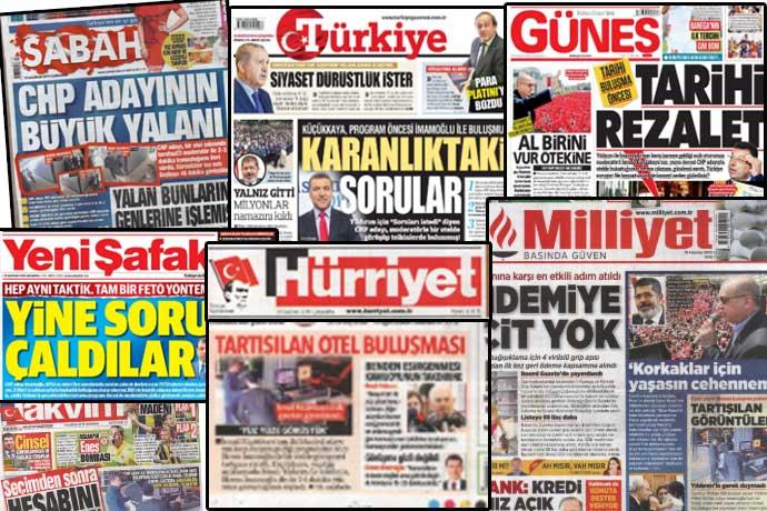 Erdoğan talimat verdi; AKP li gazeteler tek manşetle çıktı!