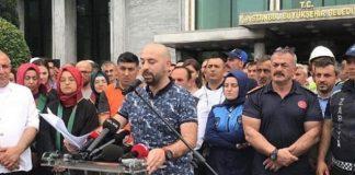 ibb önünde Ekrem İmamoğlu karşıtı eylem yapan personeller talimatla oradaydık