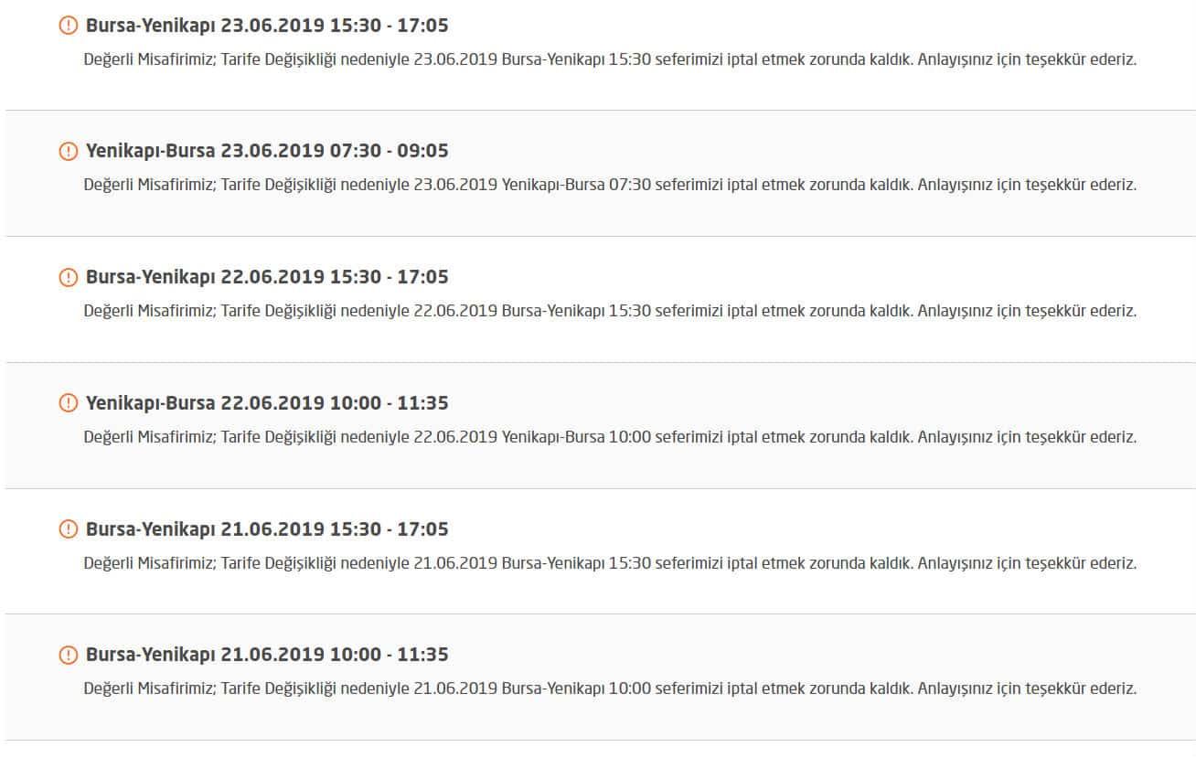 ido 23 haziran seferleri iptal mi edildi