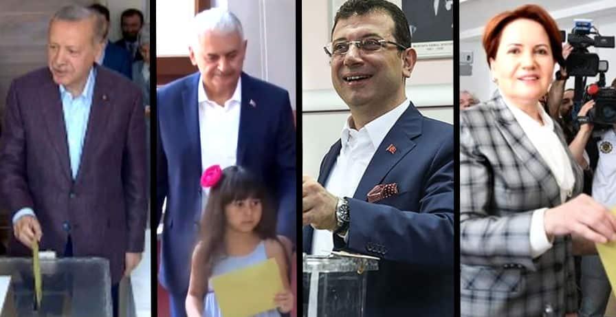 İmamoğlu, Yıldırım, Erdoğan ve Akşener oylarını kullandılar
