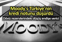 Moody s Türkiye nin kredi notunu düşürdü!