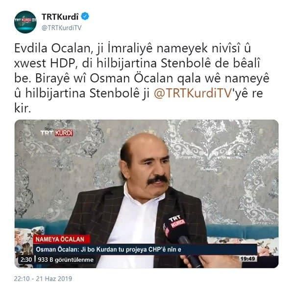 osman öcalan trt kürdi
