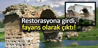 Restorasyon rezaleti: Septimus Severus Köprüsü