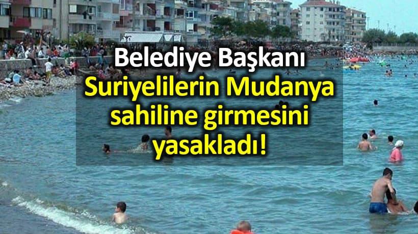 Suriyelilerin Mudanya sahiline girmesi yasaklandı!