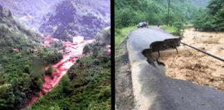 Trabzon da sel ve HES borusu patlaması: Evler, yollar, köprüler çöktü!