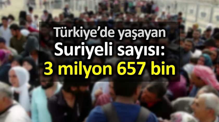 türkiye de suriyeli sayısı göç idaresi