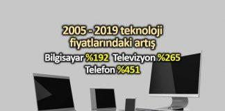 2005 ten beri Türkiye de teknoloji ürünlerinin fiyat değişimi