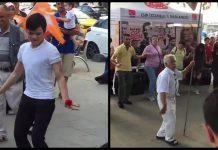 Üsküdar AKP ve CHP standlarında ilginç görüntüler
