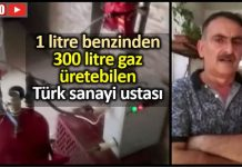 1 litre benzinden 300 litre gaz üretebilen Türk usta deniz geldeç