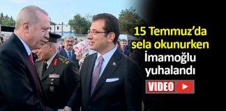 15 Temmuz sela okunurken Ekrem İmamoğlu yuhalandı