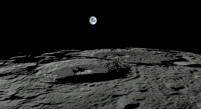 earth from moon view ay dan dünya görüntüsü