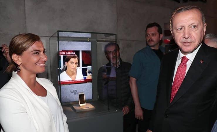 Hande Fırat ın Erdoğan ile görüştüğü telefon müzede sergileniyor Hafıza 15 Temmuz Müzesi