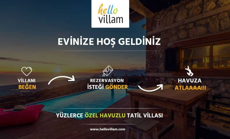 hellovillam özel havuzlu kiralık villalar rezervasyon