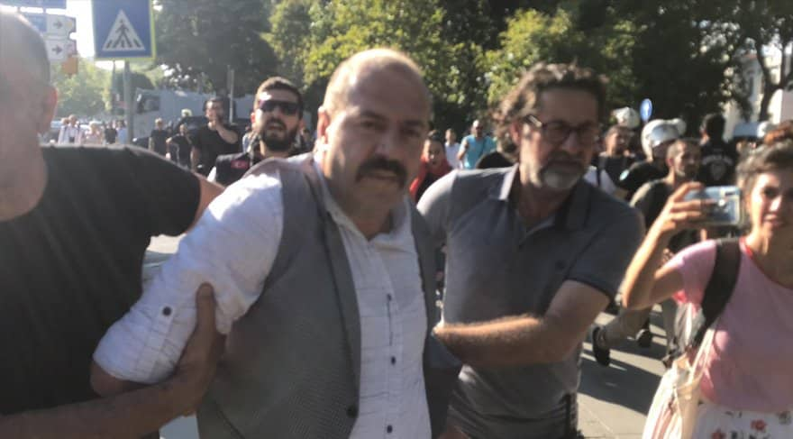istanbul suriyeli eylemi protesto arbede