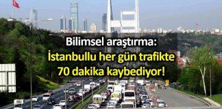 İstanbullu her gün trafikte 70 dakika kaybediyor! istanbul trafiği röntgeni araştırması