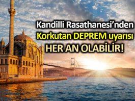 Kandilli Rasathanesi: İstanbul da her an 7,2 büyüklüğünde bir deprem olabilir!