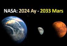 NASA 2024 insanlı Ay görevi 2033 insanlı mars görevi