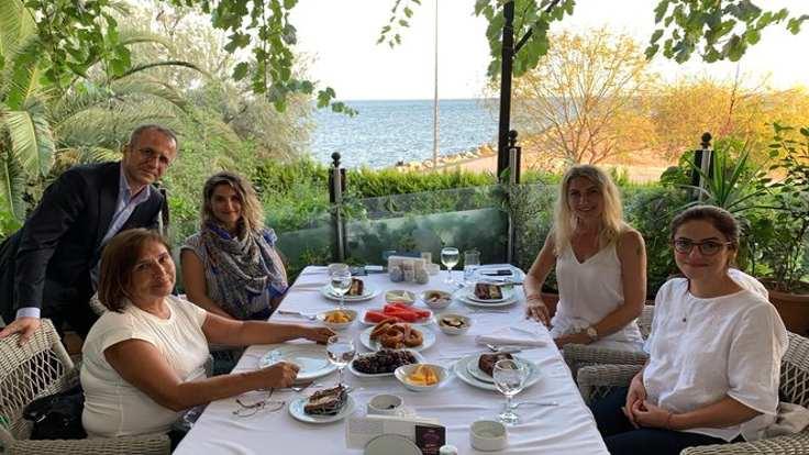 Dilek İmamoğlu, Selvi Kılıçdaroğlu, Başak Demirtaş görüşmesi