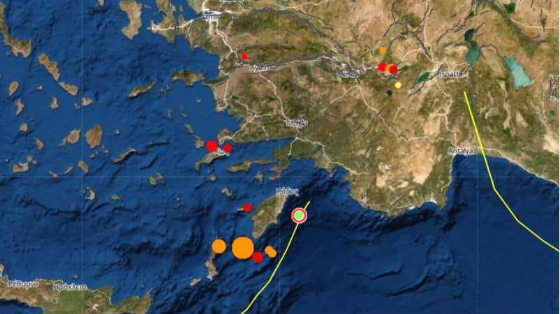 Akdeniz de 4.6 büyüklüğünde deprem: Marmaris ten hissedildi
