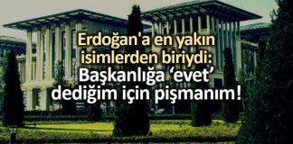akp Selim Temurci: Başkanlık sistemine evet dediğim için pişmanım!
