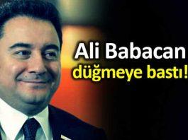 Ali Babacan düğmeye bastı: Çalışmaları başlatmış bulunmaktayız