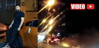 Ambulansa yol vermeyen maganda makas atarken kaza yaptı