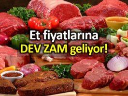 Et fiyatlarına yüzde 20 zam geliyor!