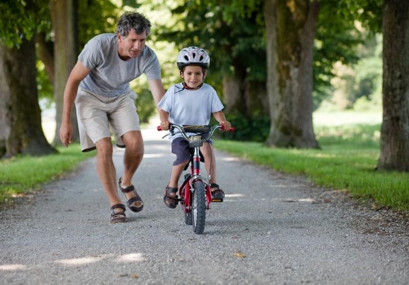 bisiklet çocuk baba