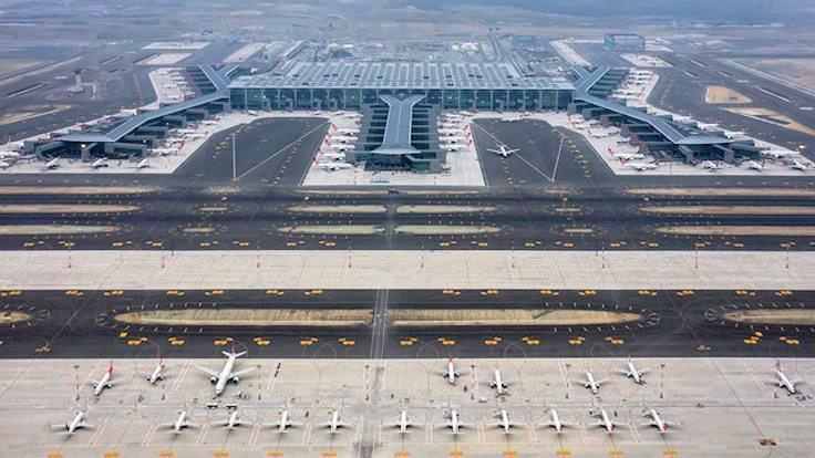 istanbul havalimanı kar küreme araçları müdahale edecek