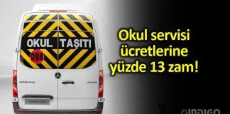 İstanbul da okul servis ücretleri zam Yeni fiyat tarifesi ücretler