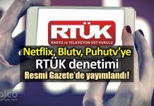 Netflix,Puhutv,BluTV gibi dijital yayınlara RTÜK denetimi!