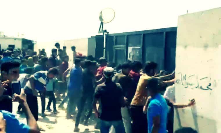 ÖSO ve Nusra yanlısı olduğu belirtilen cihatçı gruplar tekbir getirerek toplu halde sınır kapımıza saldırdılar!