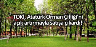 TOKİ, Atatürk Orman Çifliği arazilerini açık artırma ile satışa çıkardı!