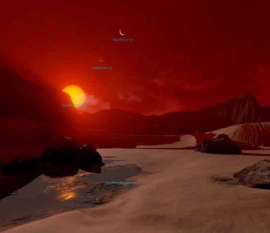 trappist-1 gezegenler nasıl görünüyor 360 derece