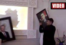 Van kayyumunun ilk icraatı Erdoğan fotoğrafı asmak oldu