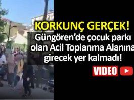 istanbul deprem güngören 50 bin kişinin yaşadığı mahallede tek Acil Toplanma Alanı çocuk parkı