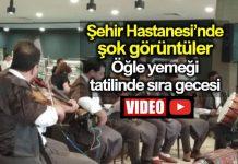 Adana Şehir Hastanesi hastalar sıra beklerken sıra gecesi düzenlendi
