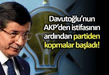 Ahmet Davutoğlu nun AKP den istifasının ardından yeni istifalar gelmeye başladı