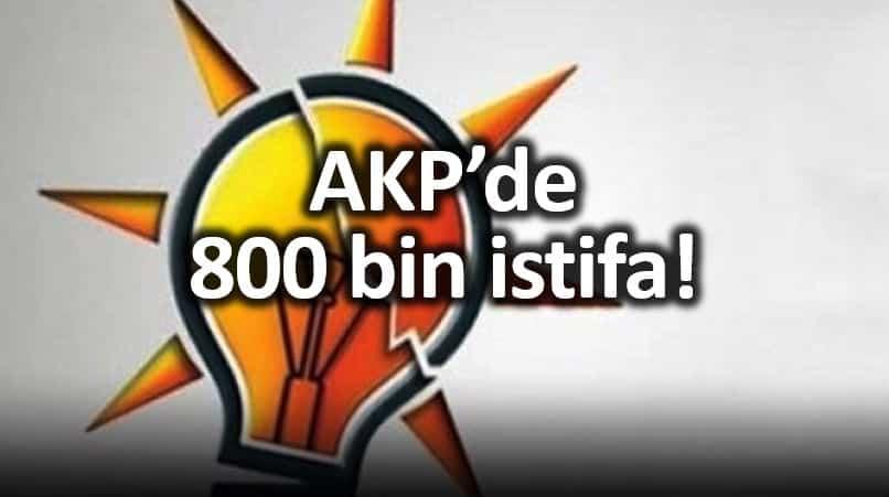 AKP son bir yılda 800 bin üye kaybetti!