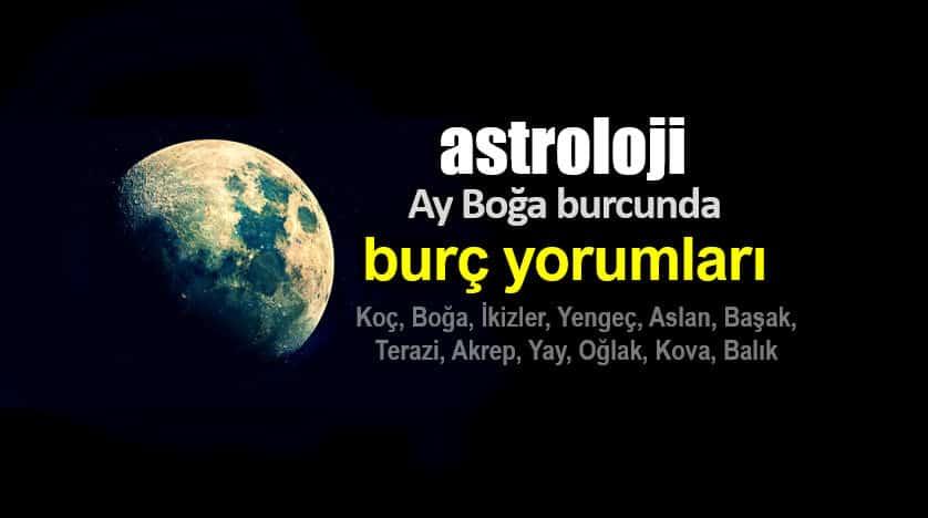 Astroloji: Ay Boğa burcunda burç yorumları