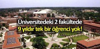 Bursa Teknik Üniversitesi 2 fakültenin 9 yıldır öğrencisi yok!
