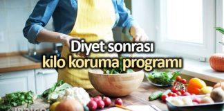 Diyet sonrası kilo koruma programı için temel yiyecekler