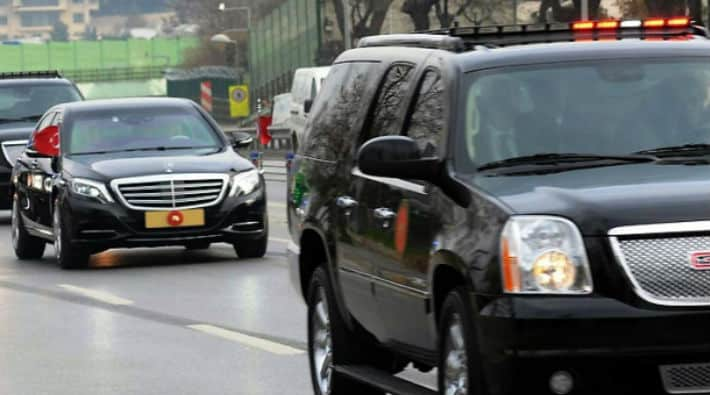 erdoğan konvoy makam araçları