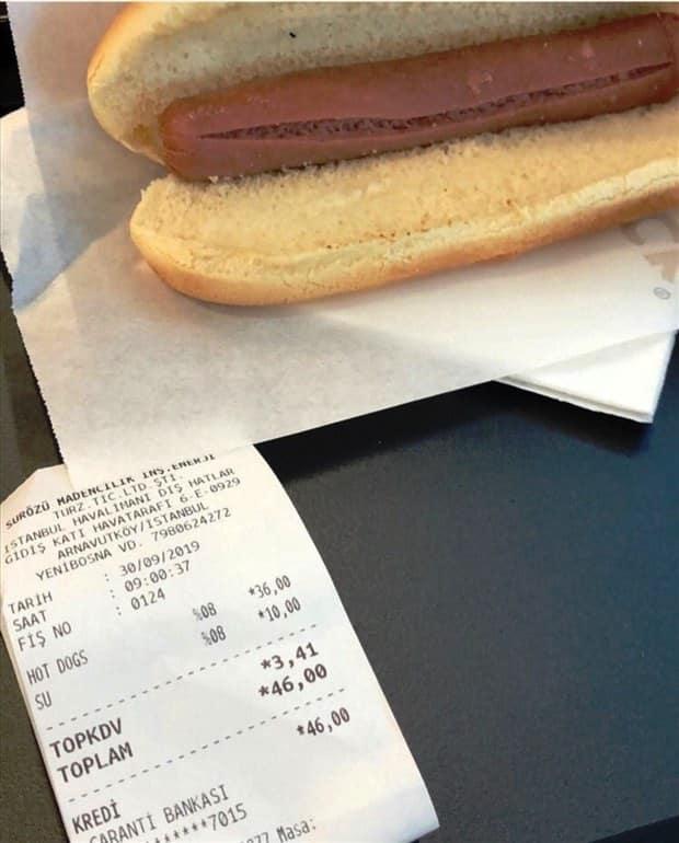 sosisli fiyatı istanbul havalimanı
