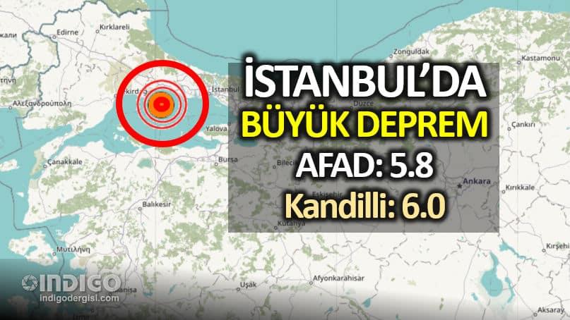 SON DAKİKA: İstanbul silivri büyük deprem kandilli afad son depremler