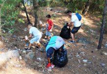 Marmaris çocuklar ve ailelerinden farkındalık yaratan temizlik çalışması ben de varım