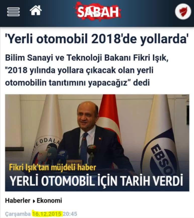 Twitter kullanıcıları Hande Fırat'ın paylaşımının altına 2015 yılında Sabah gazetesinde çıkan haberi alıntıladı.
